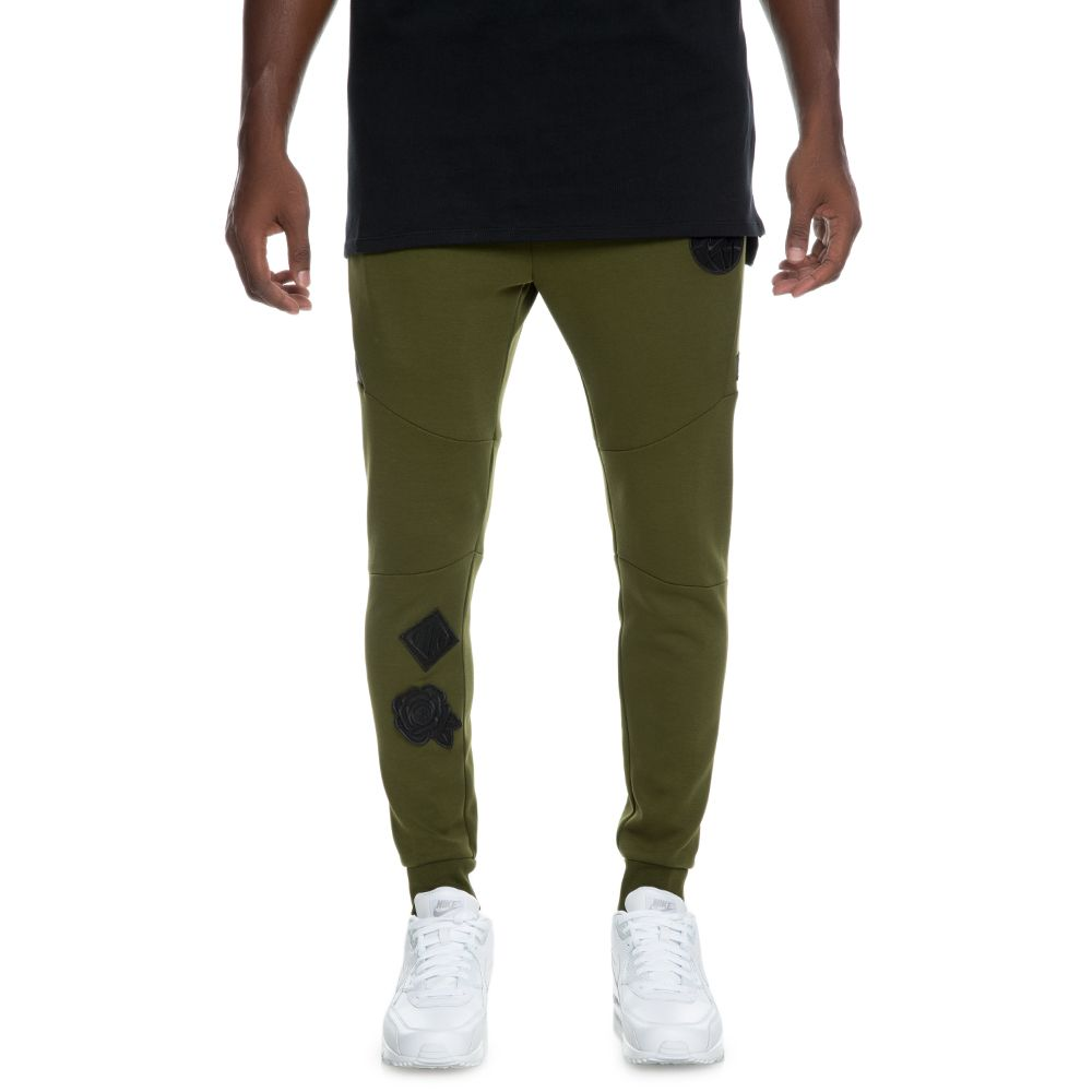 8b5cbfeddfece men's nike sportswear tech fleece jogger legion green/black