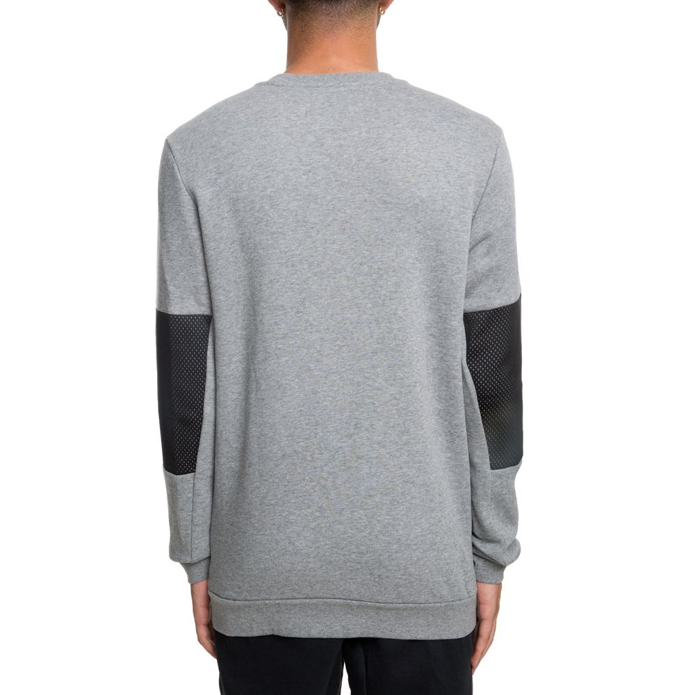 factory price 18182 f3afd JUMPMAN HYBRID FLEECE CREW CARBON HEATHER BLACK BLACK