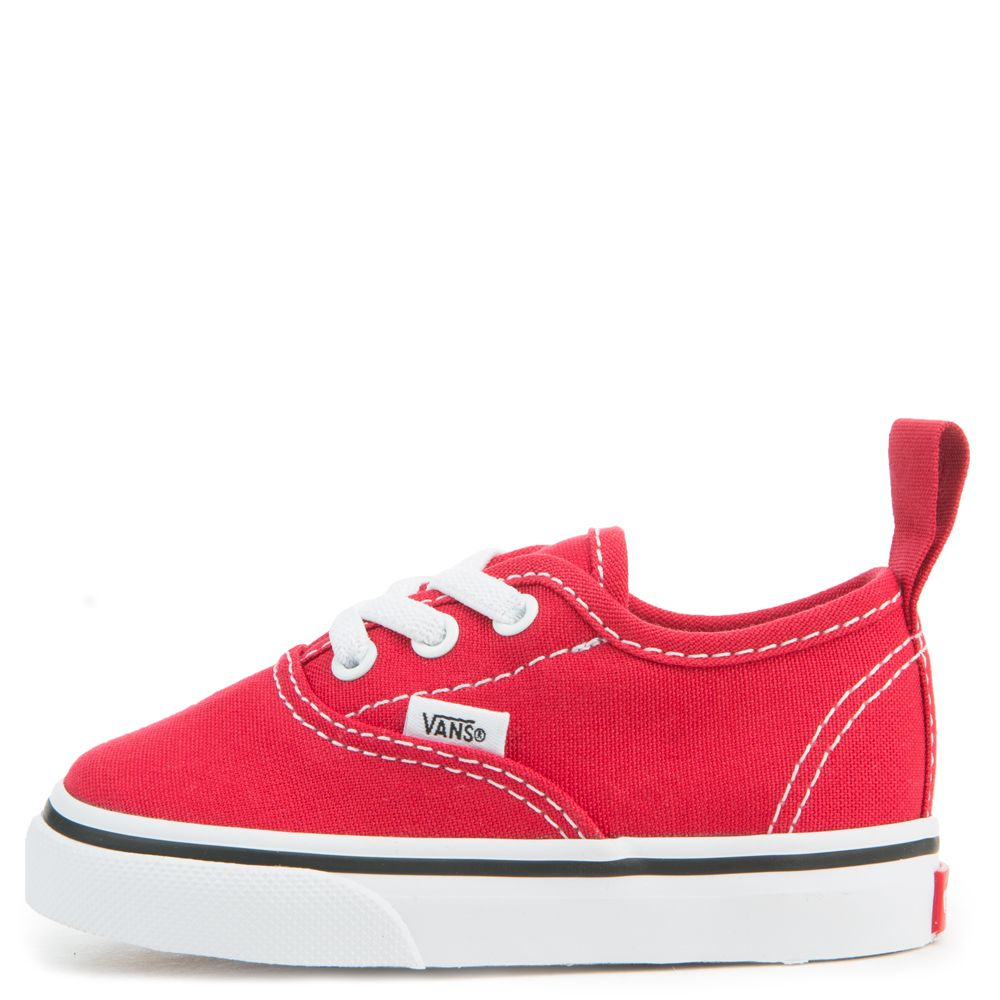 b6c7a4d3d2 toddler vans authentic elastic lace racing red true white