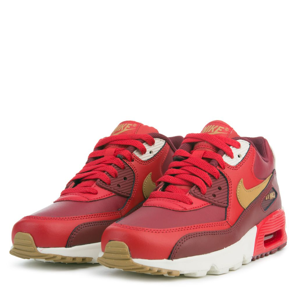cheaper 92bcc 6d94a Air Max 90 Leather GAME RED ELEMENTAL GOLD TEAM RED SAIL