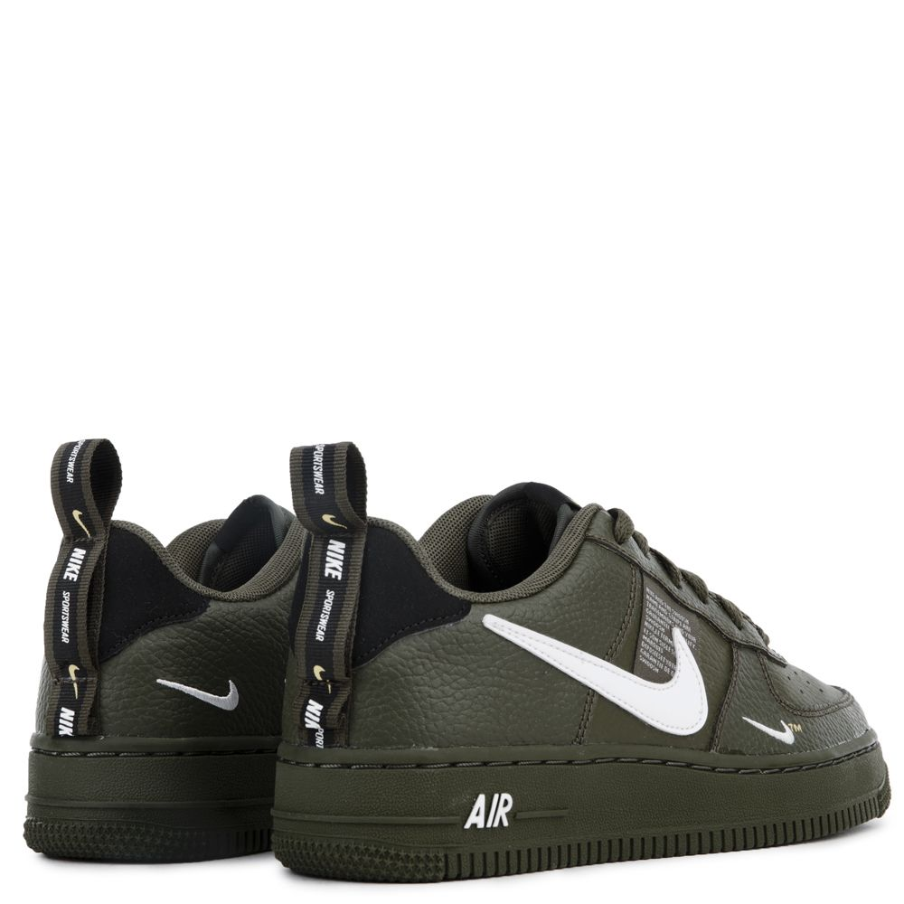 outlet store 8493f 99d6b (GS) AIR FORCE 1  07 LV8 UTILITY OLIVE CANVAS WHITE-BLACK-TOUR YELLOW