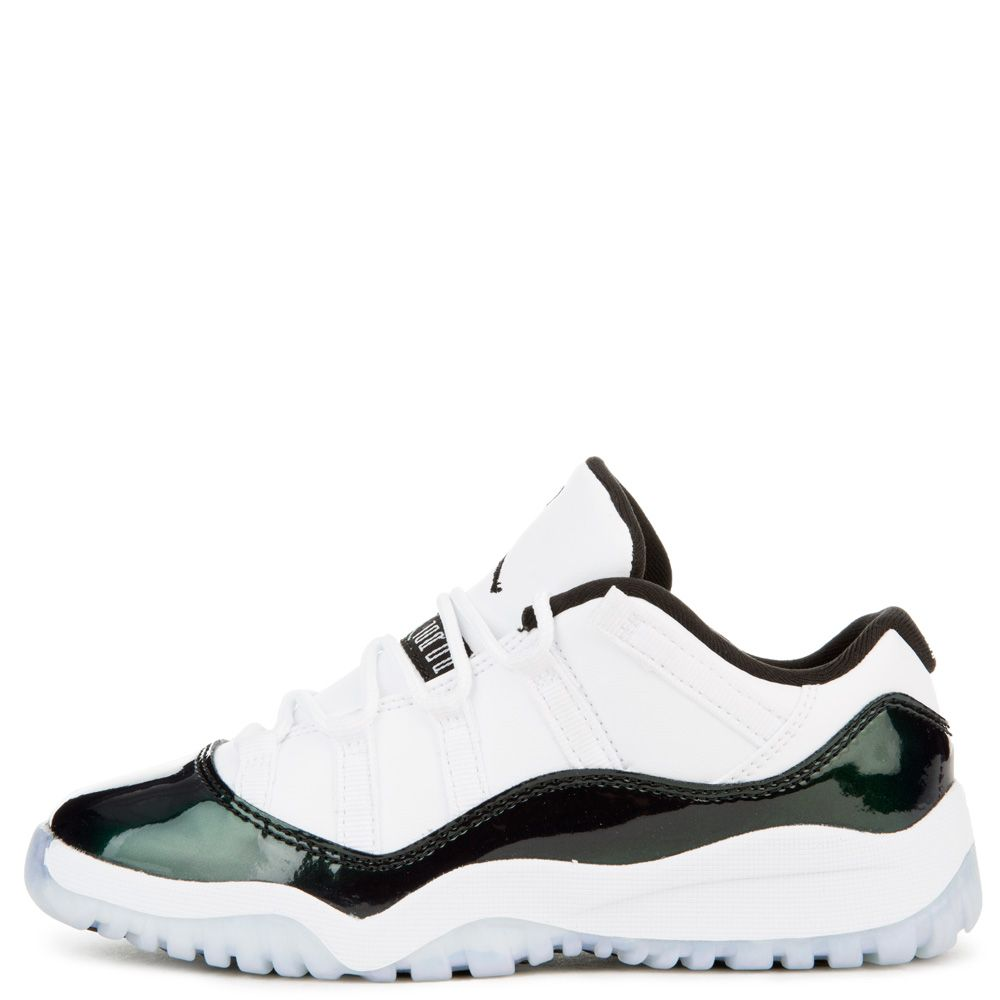 JORDAN 11 RETRO LOW BP WHITE BLACK-EMERALD RISE 01fcbc874d