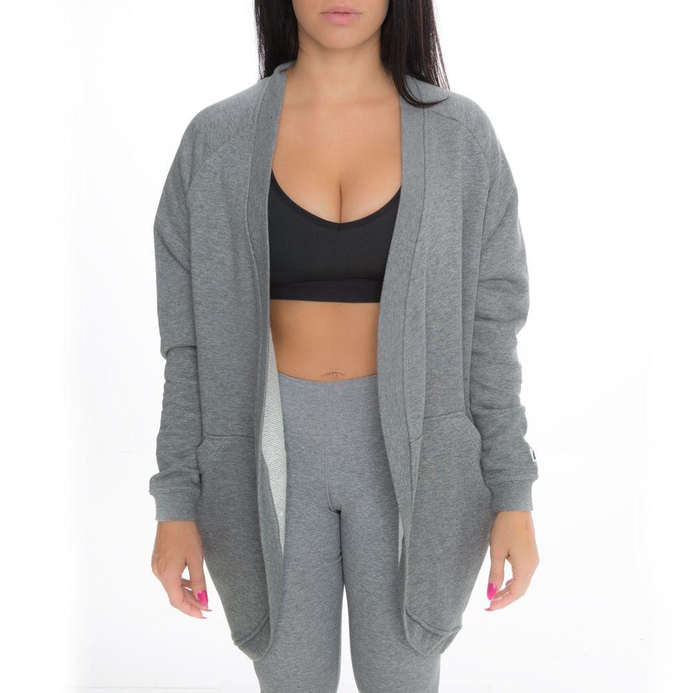 4fdf8220da0f Women s Nike Sportswear Modern Cardigan Grey White