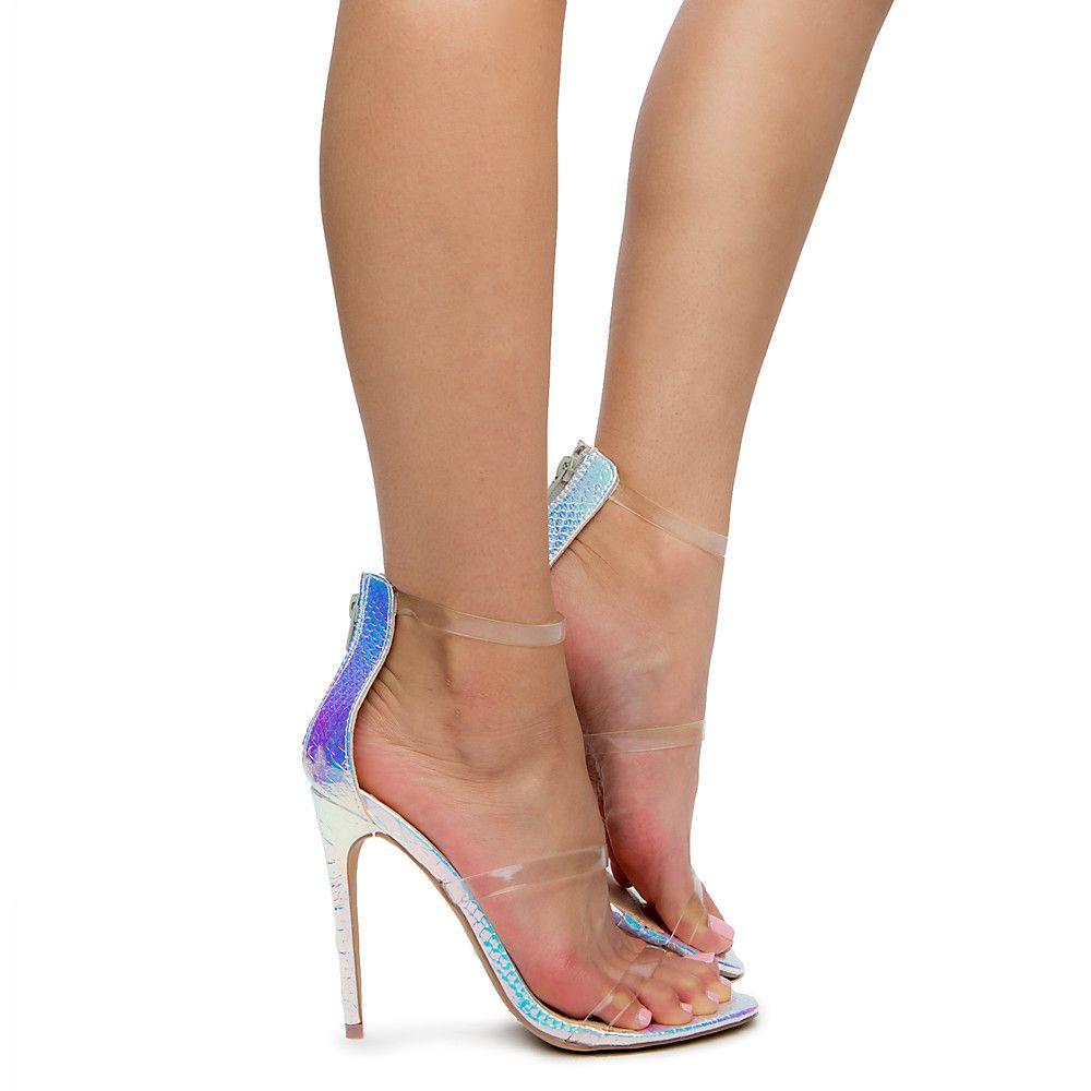 03924032d8a Women's Golden-163 High heel PINK HOLOGRAM