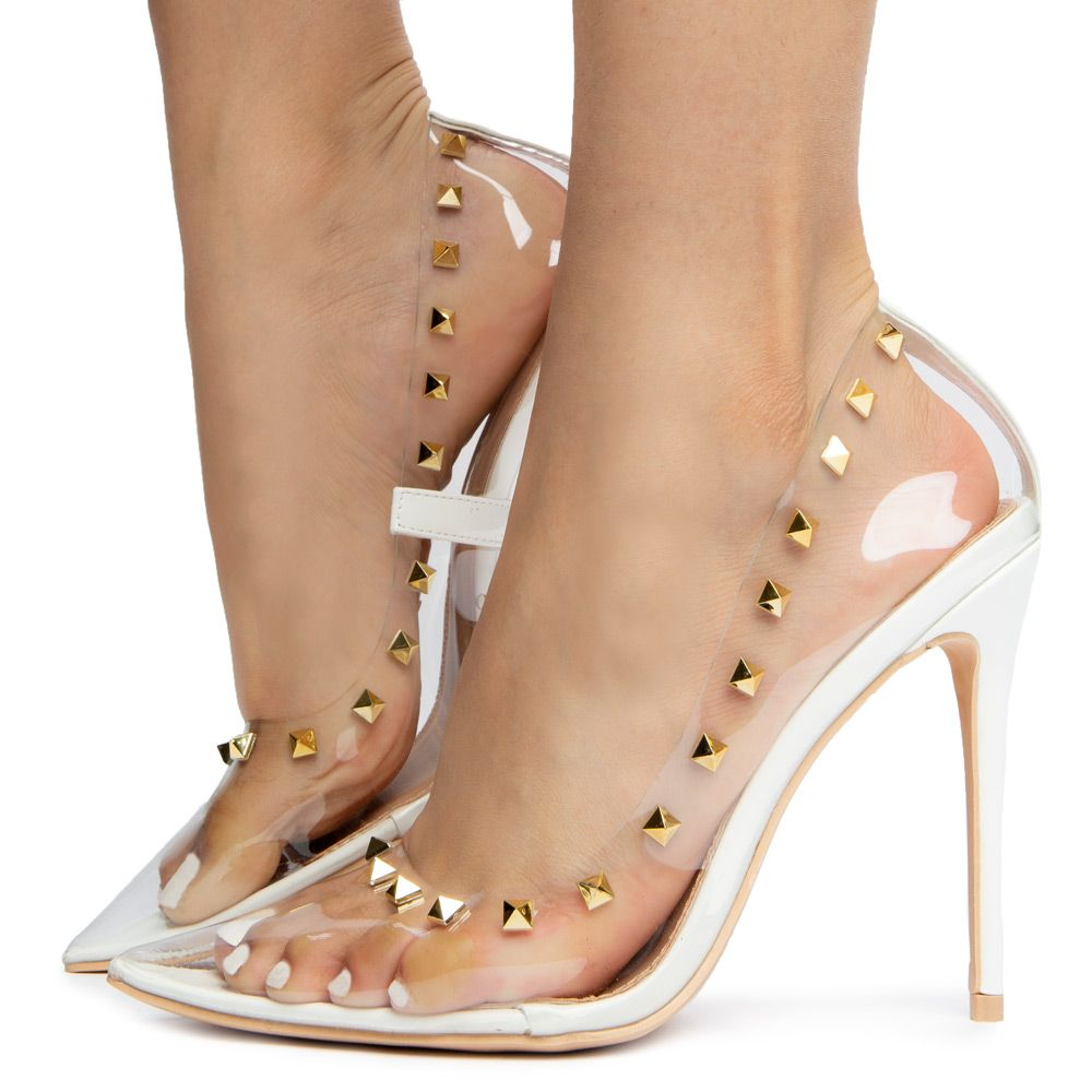 aba28b058fb14 KIMYE-2 PUMP WITH STUD HEELS WHITE