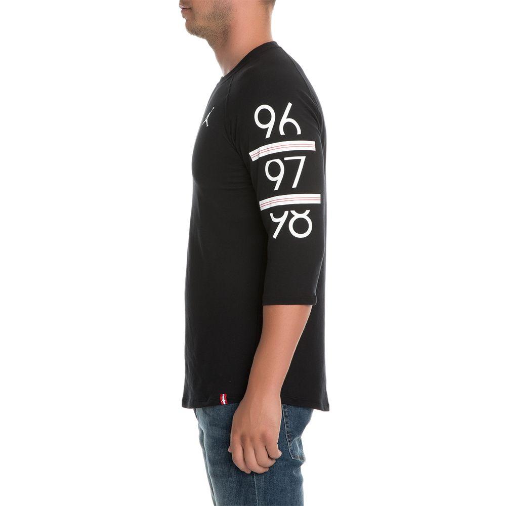 93dc129bd89 6 TIMES 3/4 RAGLAN BLACK/WHITE