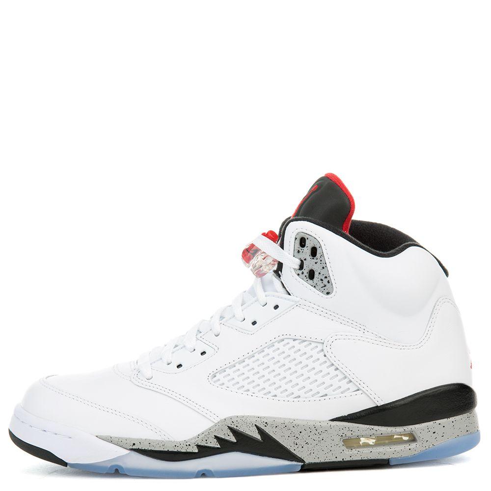 f029b9a785d7 Air Jordan 5 White Cement WHITE UNIVERSITY RED-BLACK-MATTE ...