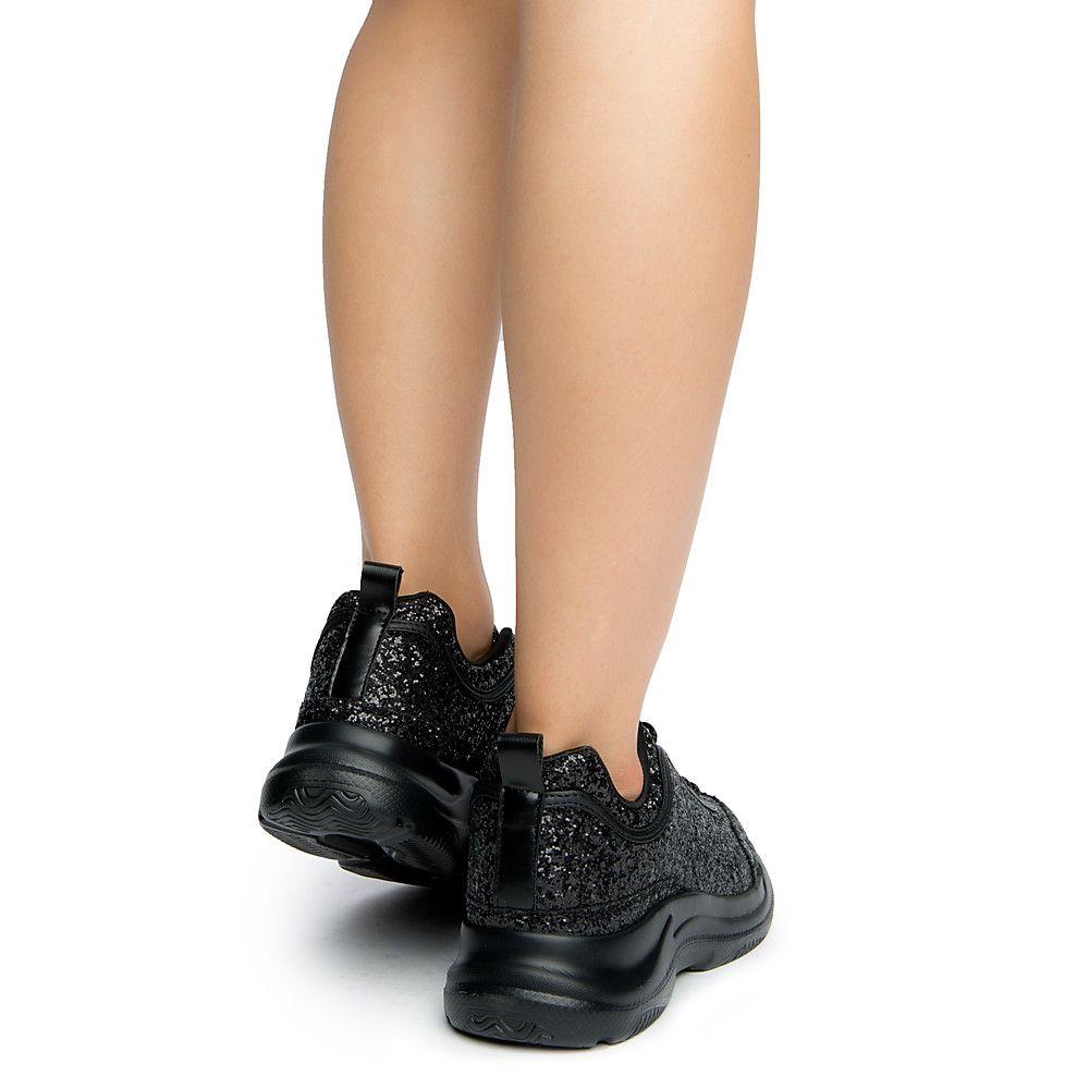 d97d9b158b6 Women's Eddy Sneakers BLACK GLITTER