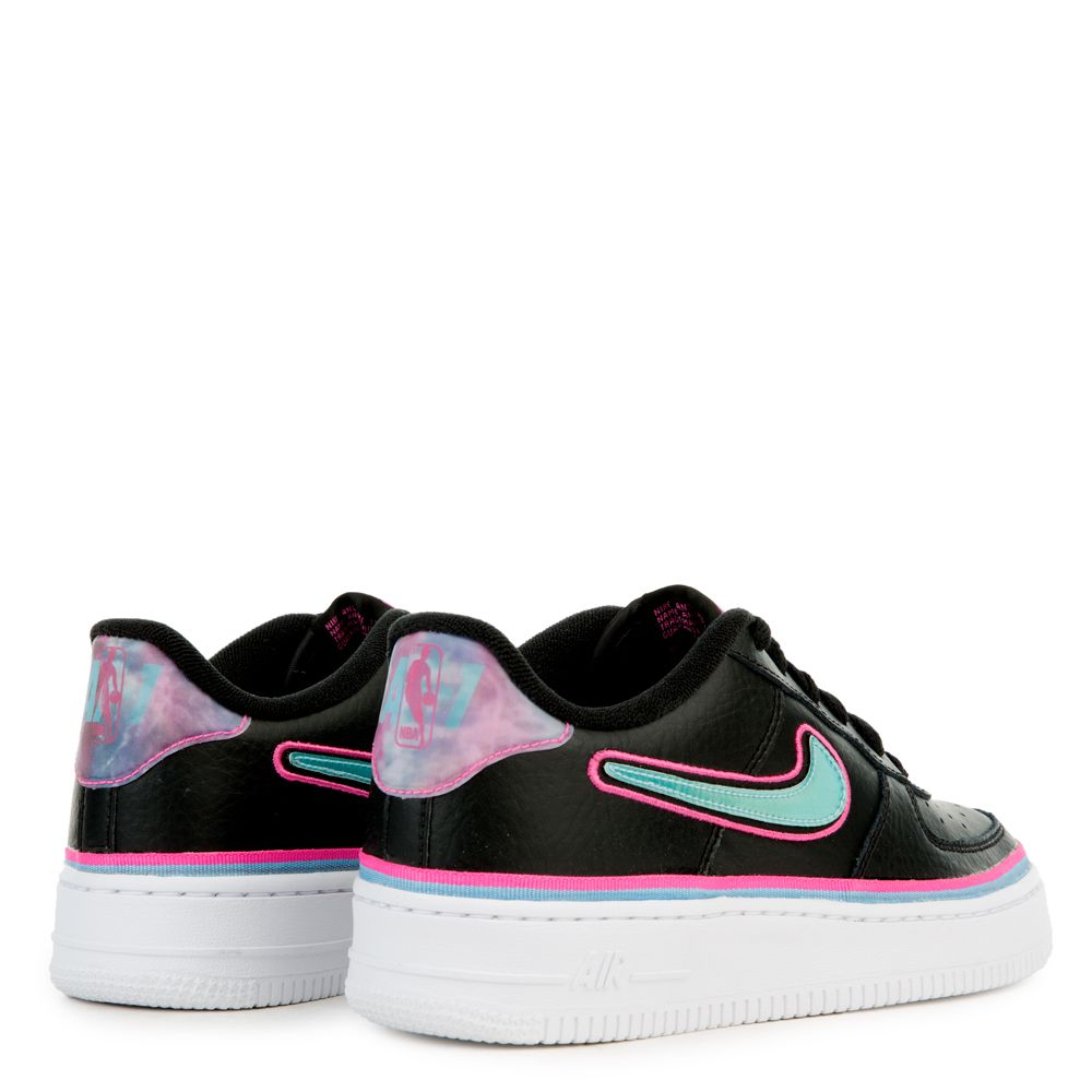 (GS) AIR FORCE 1 LV8 SPORT BLACK BLUE GALE-LASER FUCHSIA-WHITE 7f32918e0f