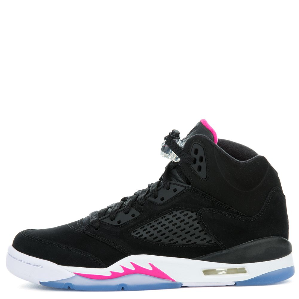550a9cd8c9b8 Air Jordan 5 Retro BLACK BLACK-DEADLY PINK-WHITE