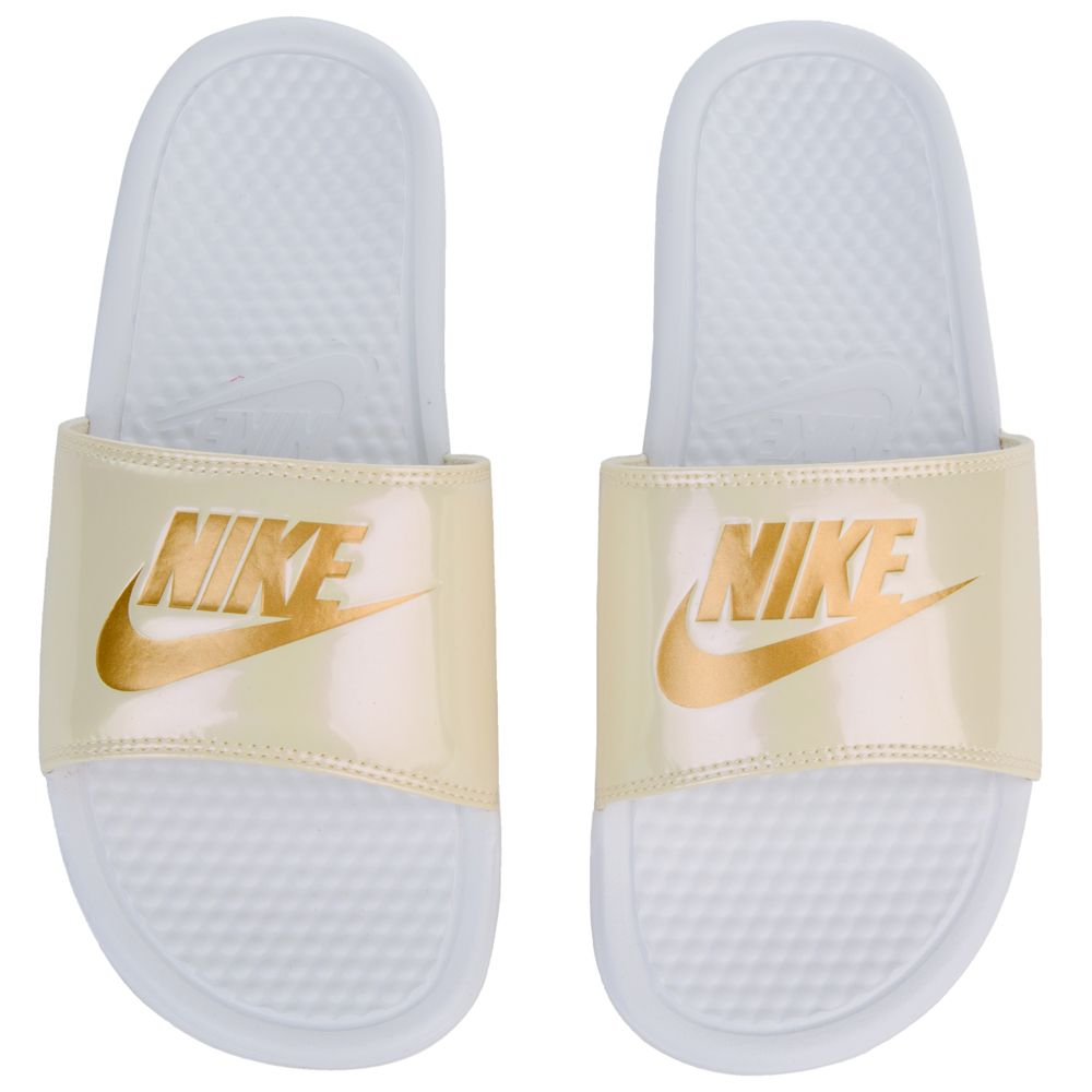 d8d94a122387 BENASSI JDI SLIDES WHITE METALLIC GOLD-BEACH