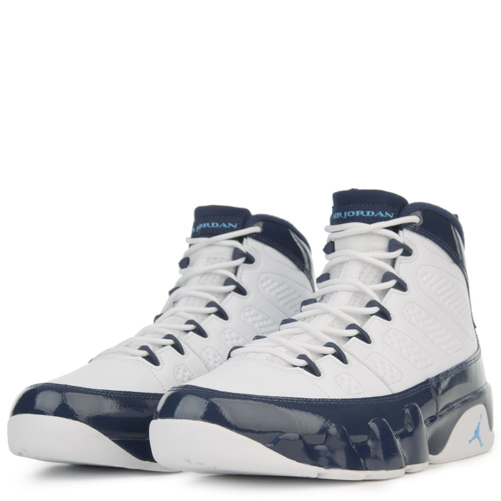 sale retailer 972c2 d7476 AIR JORDAN 9 RETRO WHITE UNIVERSITY BLUE-MIDNIGHT NAVY