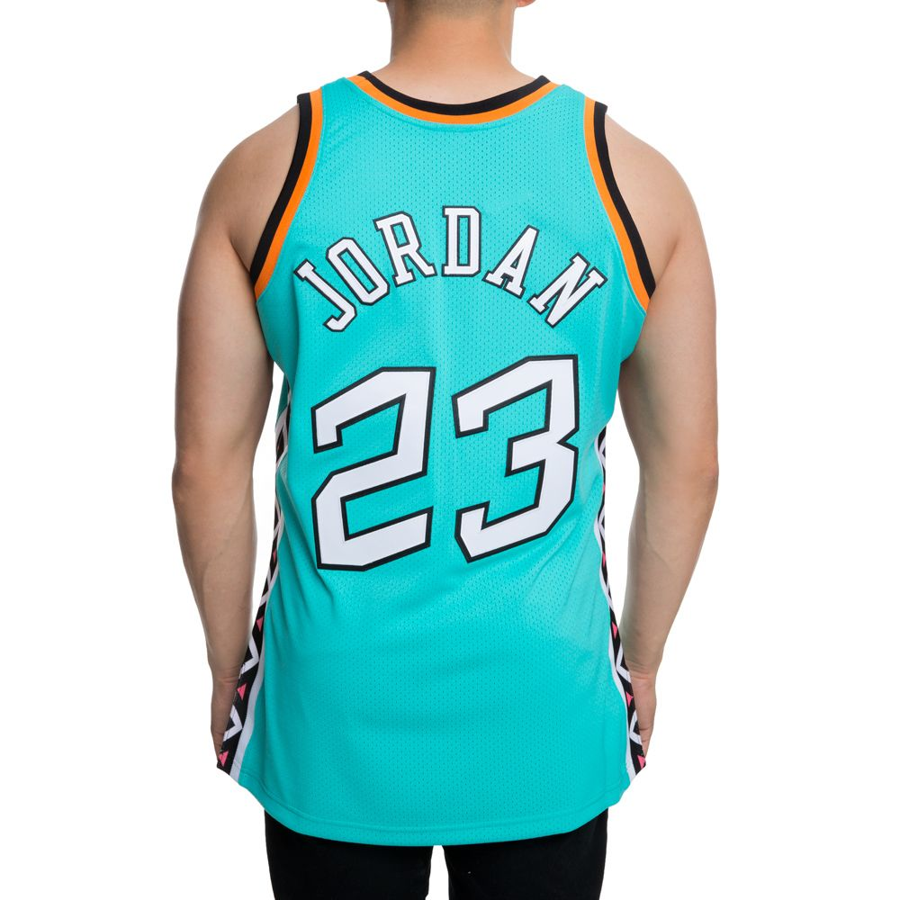 ... AUTHENTIC ALL-STAR EAST 1996 MICHAELJORDAN JERSEY TEAL BLK ... f5cb55883