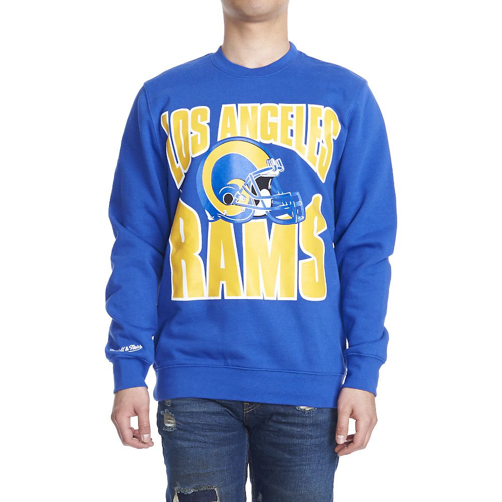 d5330311 Men's Los Angeles Rams Crewneck Sweater Blue