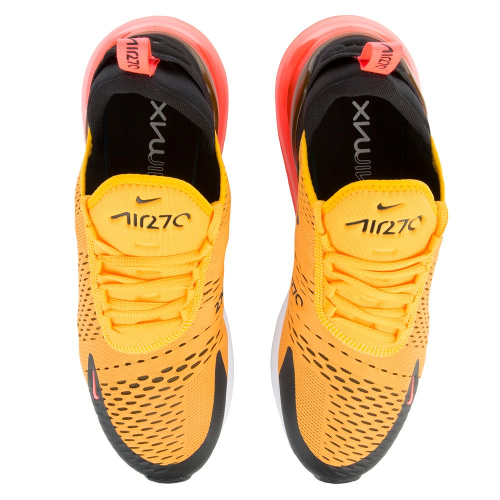 Air Max 270 BLACK UNIVERSITY GOLD-HOT PUNCH WHITE  9a6fed3f9
