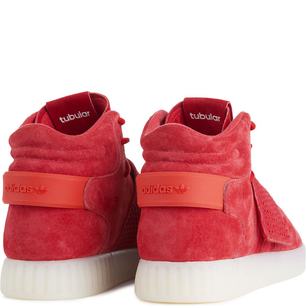 582d2aae055a99 Men s Tubular Invader Strap Casual Lace-Up Shoe Red