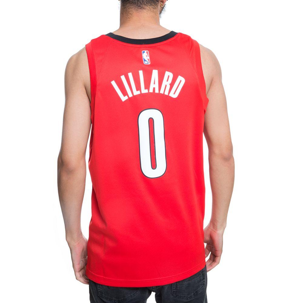 7fee464d43c ... PORTLAND TRAIL BLAZERS NBA CONNECTED DAMIAN LILLARD EARNED CITY EDITION  SWINGMAN JERSEY UNIVERSITY RED BLACK
