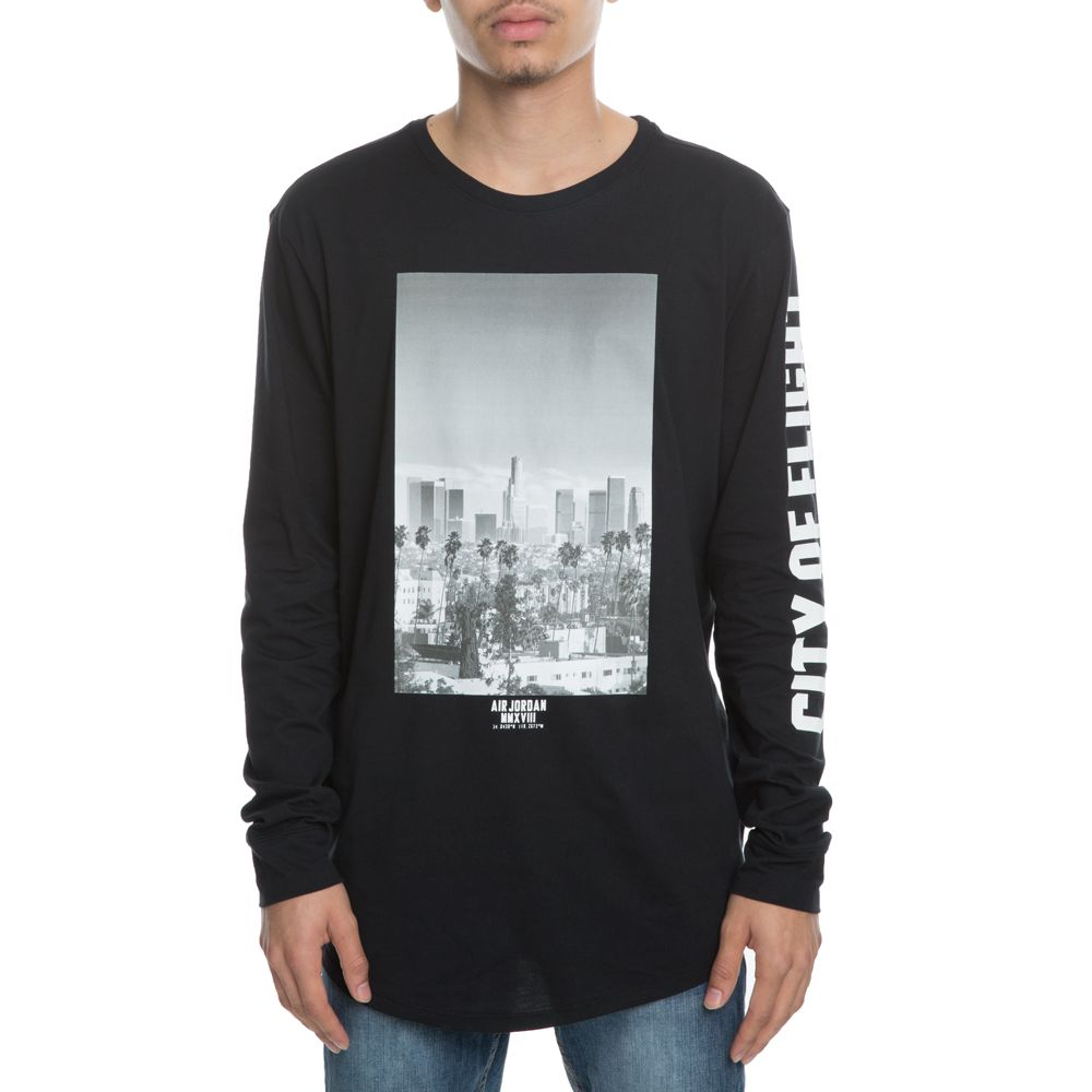 dfd837502677 Jordan Long Sleeve City Of Flight BLACK