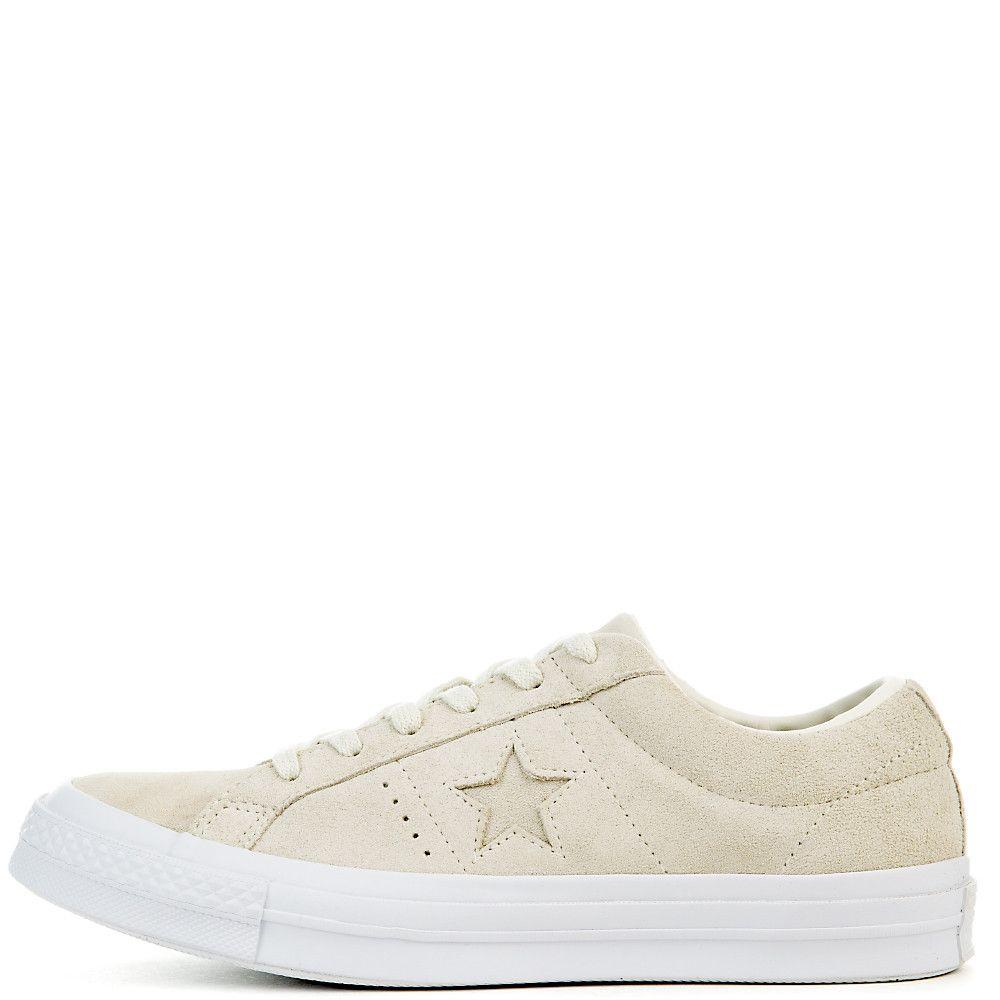 c75143f5486024 Women s One Star Suede Ox Sneaker egret egret white