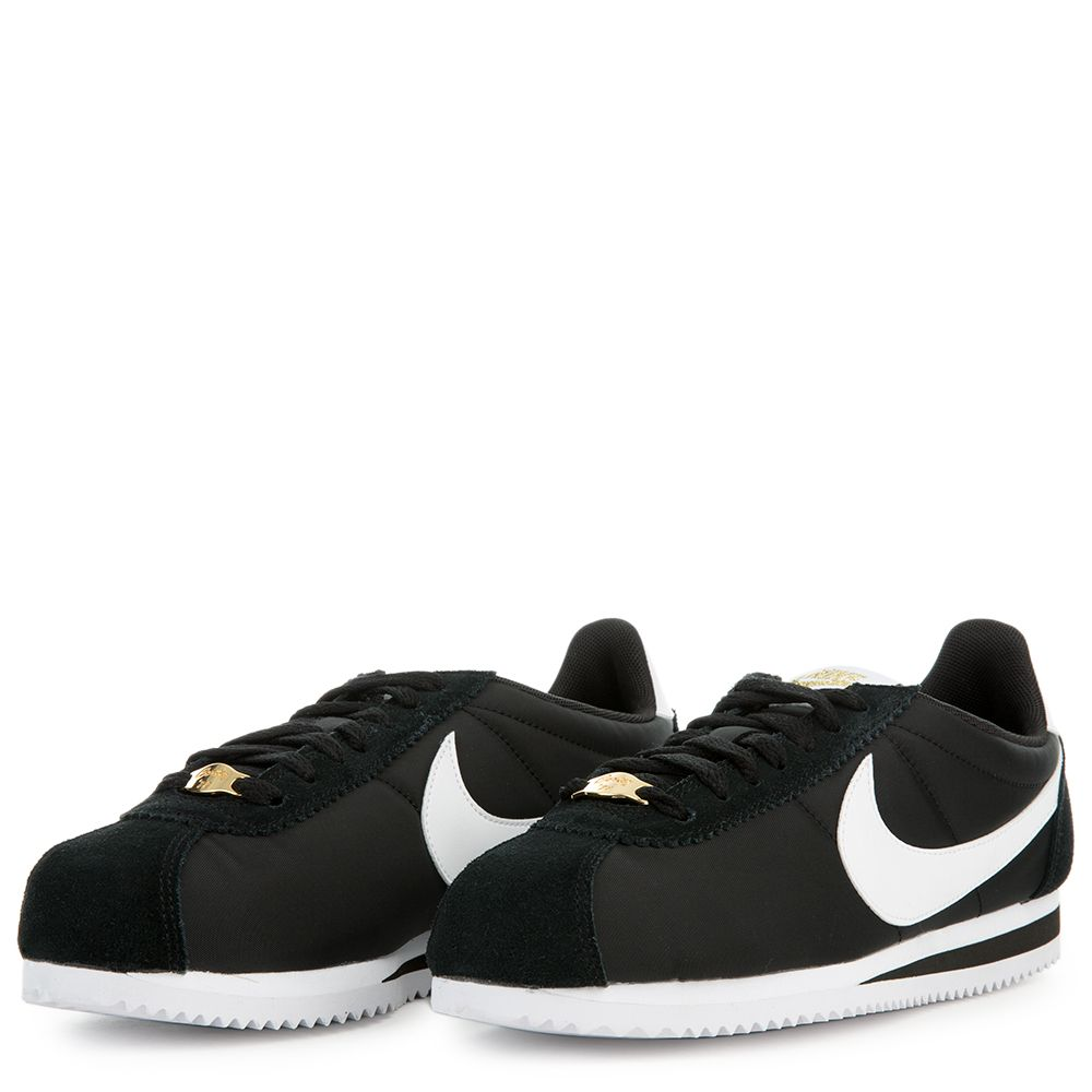 4420ab41e63e NIKE CORTEZ BASIC NYLON PREMIUM BLACK WHITE-METALLIC GOLD