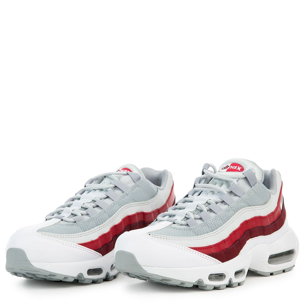 cheap for discount 9394a c7d98 NIKE AIR MAX 95 ESSENTIAL WHITE WOLF GREY-PURE PLATINUM-TEAM RED