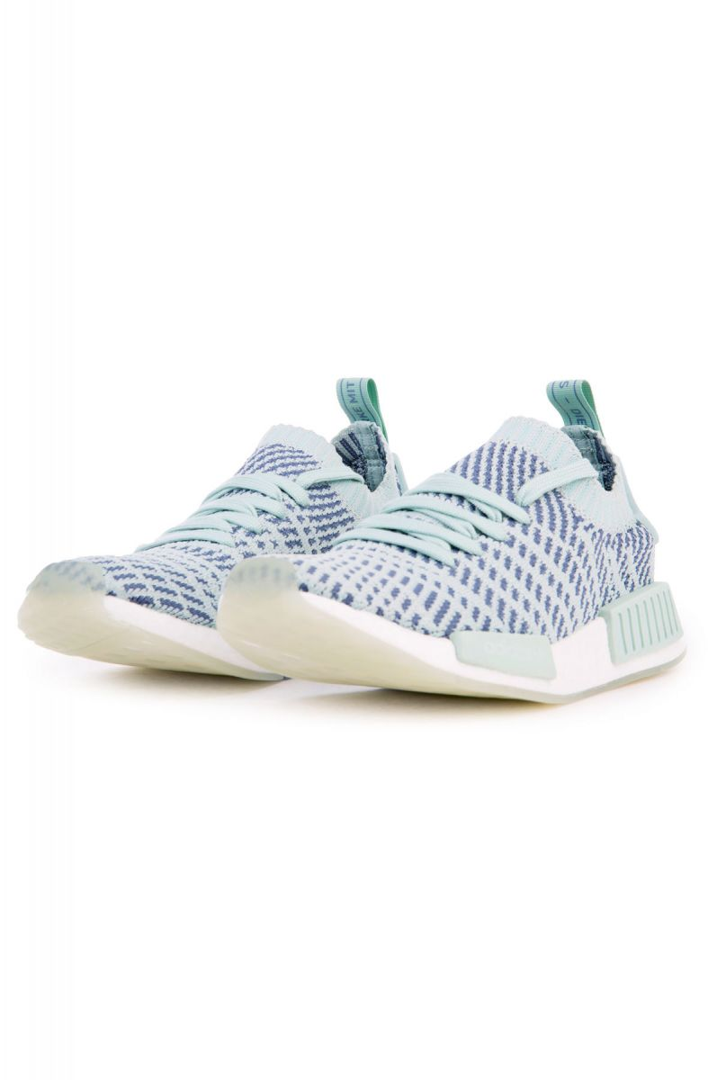 finest selection 2b23c 38310 ... The Women s NMD R1 STLT Primeknit in Ash Green, Raw Steel and White  Green  ...