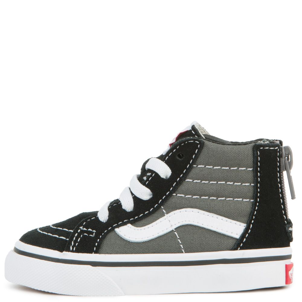 331da9b8eb TODDLER VANS SK8-HI ZIP BLACK CHARCOAL