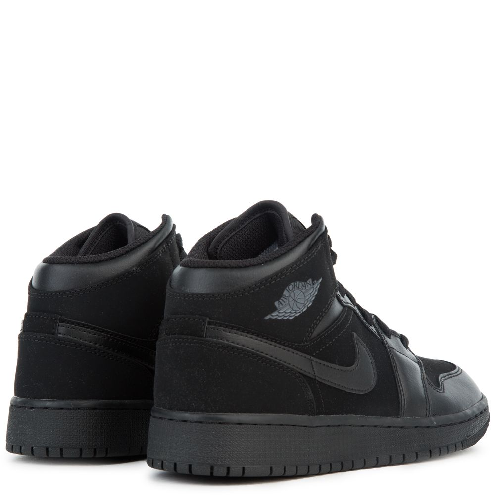 8a4d7d91ba1bb (BG) AIR JORDAN 1 MID BLACK/DARK GREY-BLACK