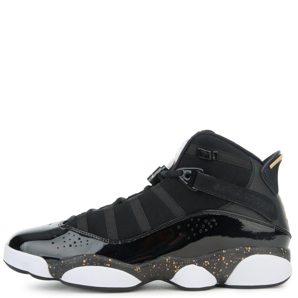 sports shoes 92ab9 20362 6 RINGS BLACK METALLIC GOLD-WHITE