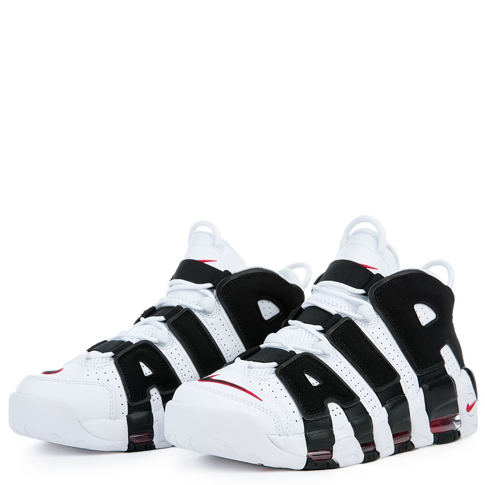 brand new 5c357 ca8c3 AIR MORE UPTEMPO WHITE BLACK-VARSITY RED