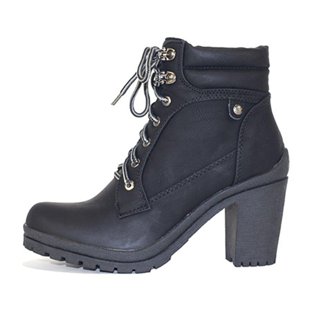 Women s Low Heel Ankle Boot Hanson-1 Black b14e95a28