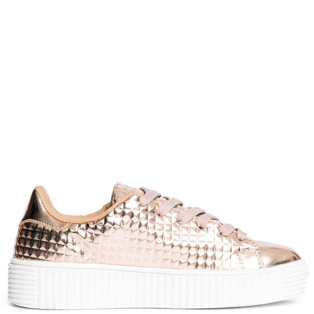 488615a93e Cape Robbin Izzy-1 Women's Rose Gold Platform Sneakers Rose Gold