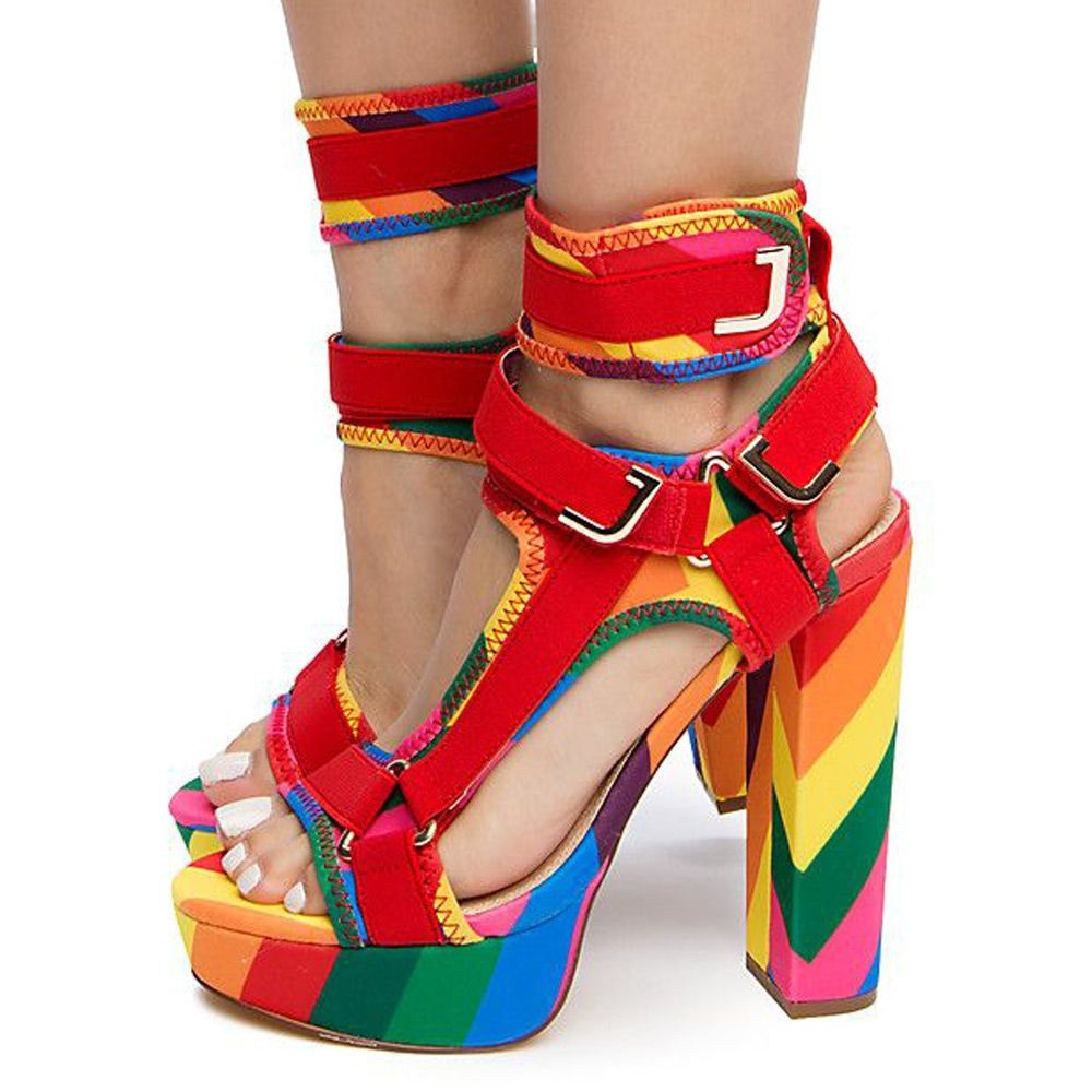 9f1aa029de6 Women's Glamrock High Heels Rainbow
