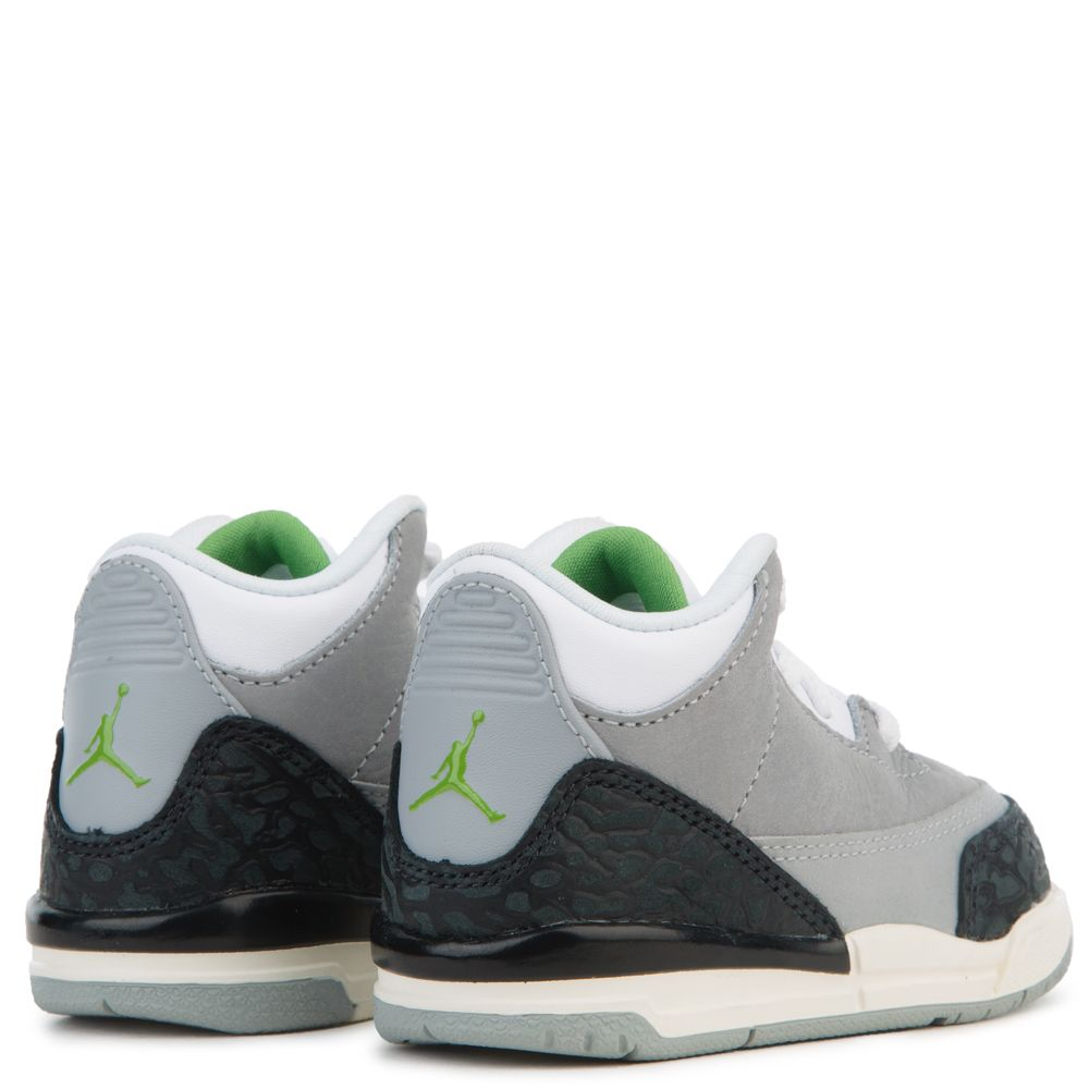 hot sale online 8ebc9 8c3c0 (TD) Air Jordan Retro 3 LT SMOKE GREY CHLOROPHYLL-BLACK-WHITE