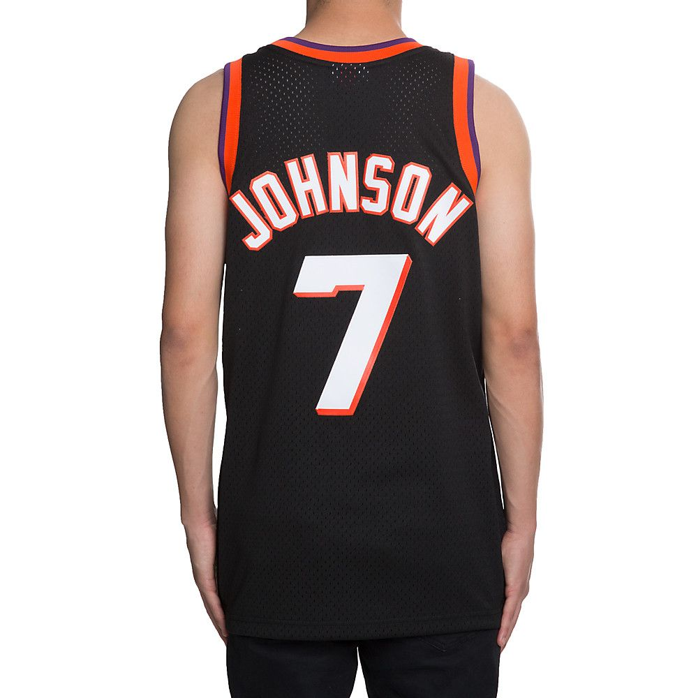 34cda37459f Men s Suns Kevin Johnson 7 Jersey BLACK