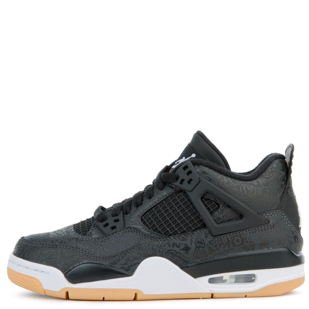 828274d546e051 (GS) AIR JORDAN 4 RETRO SE BLACK WHITE-GUM LIGHT BROWN