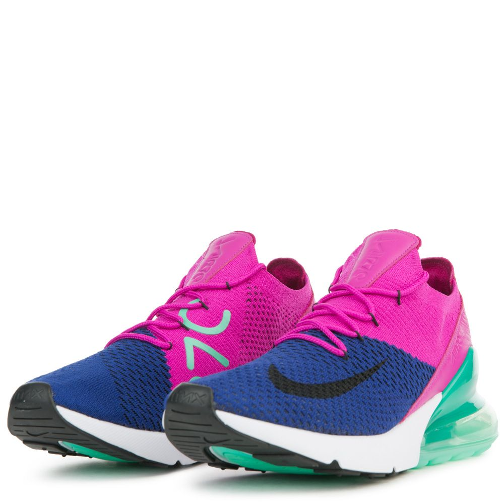 786d533eb9e0 ... official store mens nike air max 270 flyknit deep royal blue black  fuchsia flash 0ec38 53dce