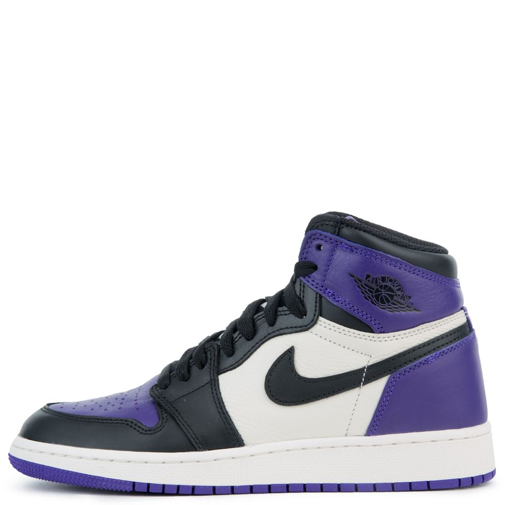 14a42e4e0e0 (GS) AIR JORDAN 1 RETRO HIGH OG COURT PURPLE BLACK-SAIL