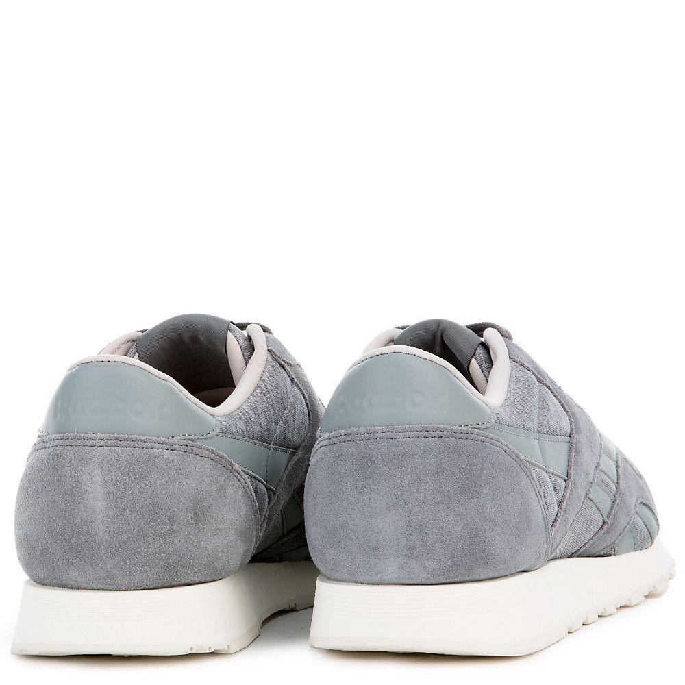0236da4bed62 Men s Classic Nylon Jersey Sneaker FLAT GREY MEDIUM GREY ...