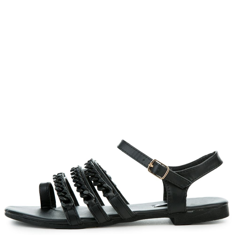 2d42e7fd03dfe Cape Robbin Cash-4 Women s Black Sandals Black