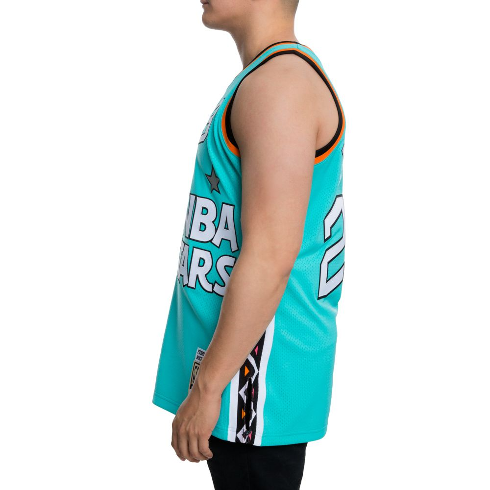 42ed7cf0f ... AUTHENTIC ALL-STAR EAST 1996 MICHAELJORDAN JERSEY TEAL BLK ...