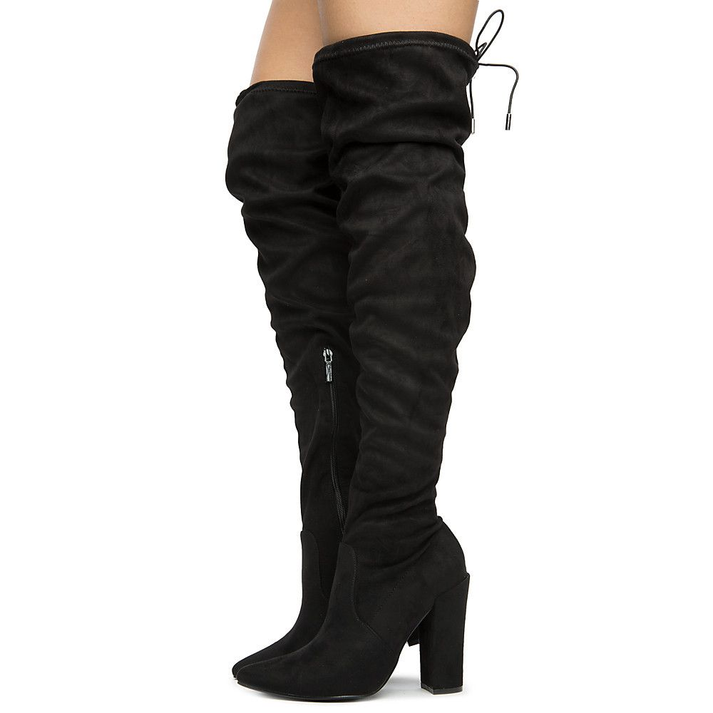 850429e89de Women's Annika-15 Over The Knee Boots BLACK