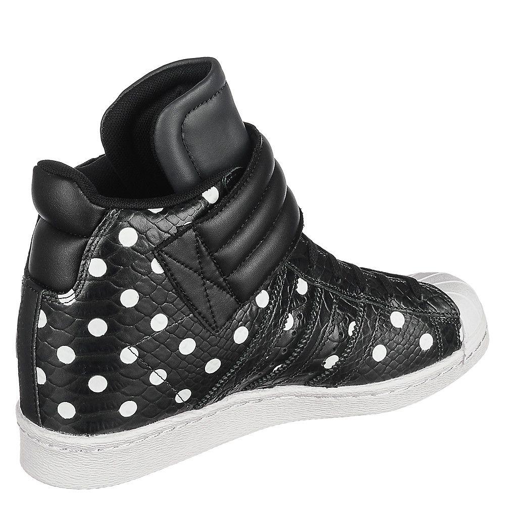 cd33b77b6260 Women s Hidden Wedge Sneaker Superstar UP Strap Black White