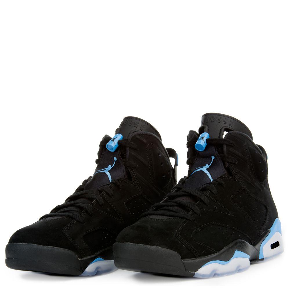 7c1dc9bc25ca MEN S AIR JORDAN 6 RETRO BLACK UNIVERSITY BLUE