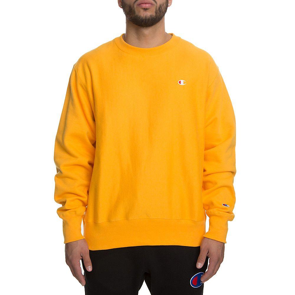 Gold Crewneck Reverse Sweatshirt Weave Men's N0PnOmy8wv