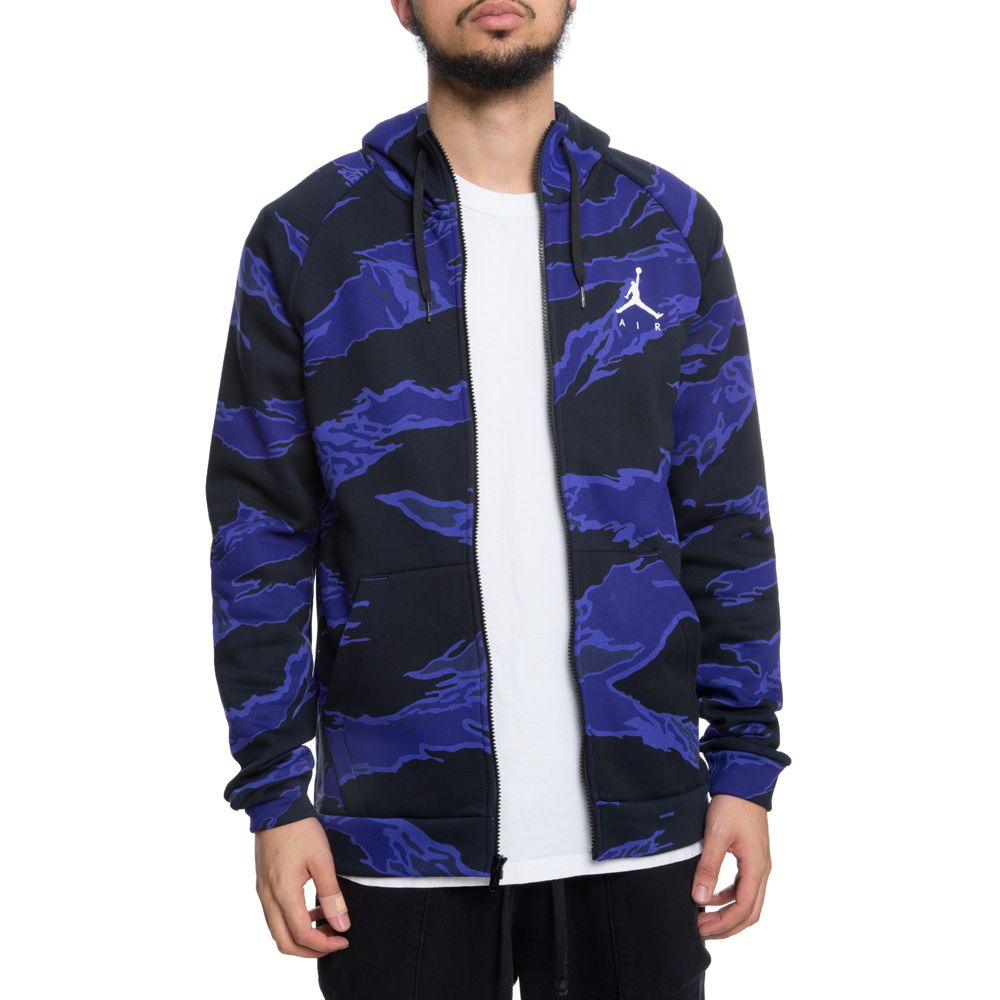 air jordan jumpman fleece camo full-zip hoodie germain blue white 98218a812f1ca