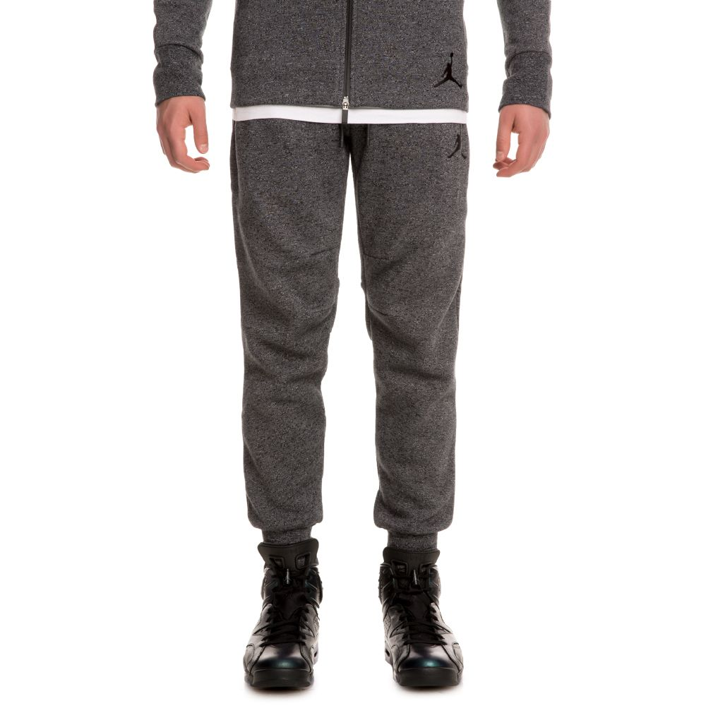 d8834f39b31a34 Jordan Icon Fleece With Cuff Pant BLACK BLACK