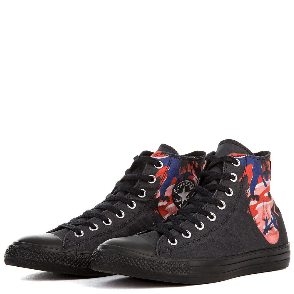 32e695ebe159 Unisex Chuck Taylor All Star Andy Warhol CT Hi BLACK RED BLUE