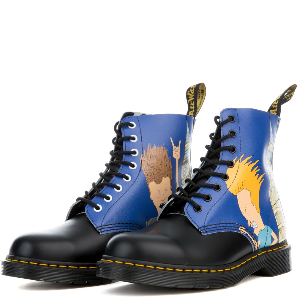 b2bcb5b9a6 Unisex Beavis & Butt-Head Pascal Black + Blue Boots BLACK/BLUE PRINT