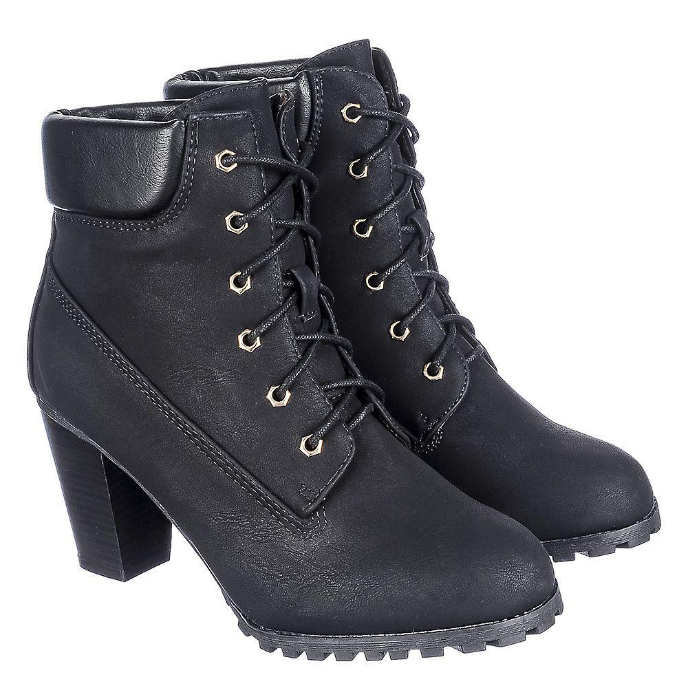 d336ac21d7c Women's Low Heel Ankle Boot Cici-10 Black